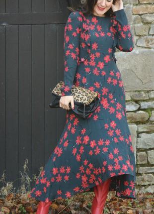 Очаровательное платье из вискозы в цветочный принт от h&m trend