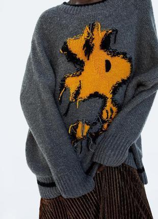 Вязаный свитер оверсайз от zara