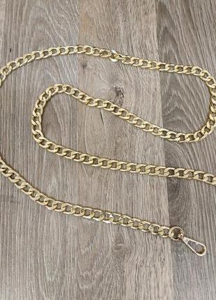 Ручка цепочка для сумки клатча цвет золото 12мм 231729