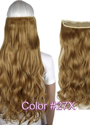 Трессы волнистые 3824 волосы на заколках клипсах затылочная пр...