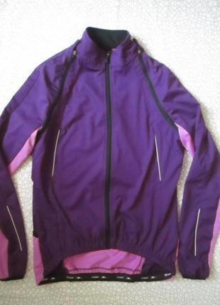 Мембрамная куртка softshell crane велокуртка 40 р 2в1 безрукав...
