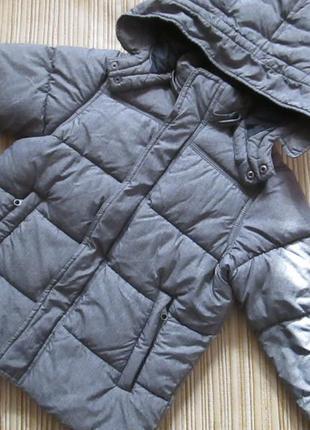 Зимняя курточка h&m, 7-8 лет