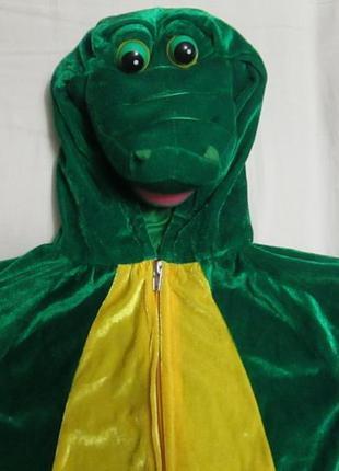 Карнавальный костюм крокодила на 3-4 года