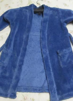 Махровый халат на 4-5 лет