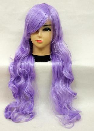 Парик волнистый светло-фиолетовый 3504