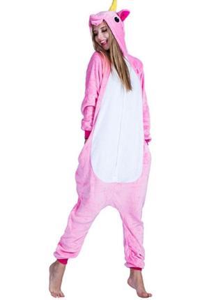 Кигуруми пижама единорог пони розовый костюм
