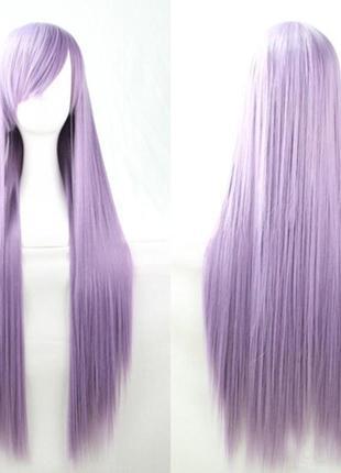 Парик прямой 95см светло-фиолетовый