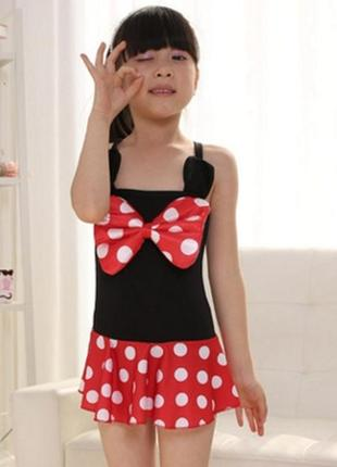 Купальник для девочки 3403 детский слитный сдельный черный с к...
