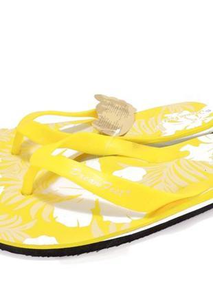 12-309 мужские пляжные вьетнамки. желтый.