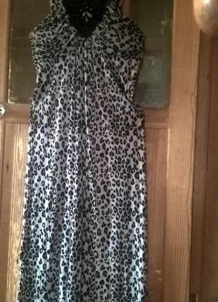 Вечернее трикотажное, длинное платье.