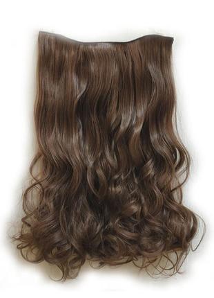 Трессы волосы на заколках затылочная прядь светло-коричневые 5...