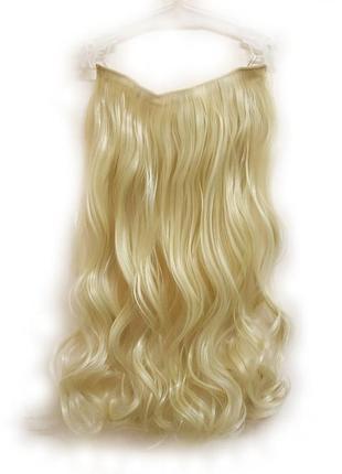 Трессы волосы на заколках затылочная прядь блонд 5клипс №613 3823