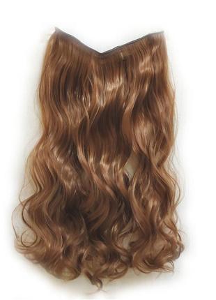 Трессы волосы на заколках затылочная прядь рыжие 5клипс №30 6229