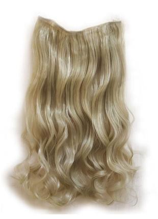 Трессы волосы на заколках затылочная прядь блонд 5клипс №24/61...