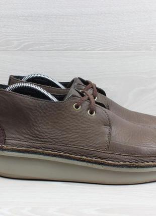 Кожаные ботинки clarks originals, размер 41.5