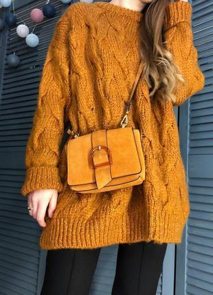 Удлинённый шерстяный свитер от zara