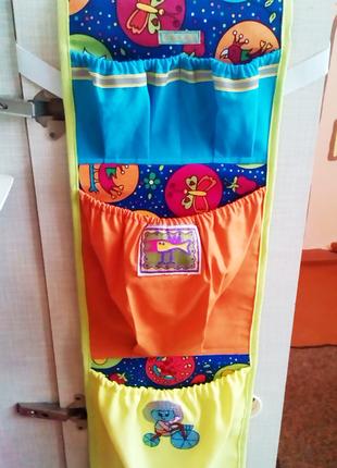 Органейзер-карманы в шкафчик в детском саду, органайзер для хр...