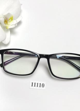 Имиджевые очки в черной глянцевой оправе к.11110
