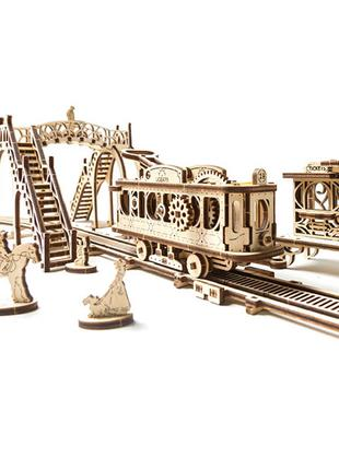 Механические 3D пазлы UGEARS - «Трамвайная линия» (CNB)