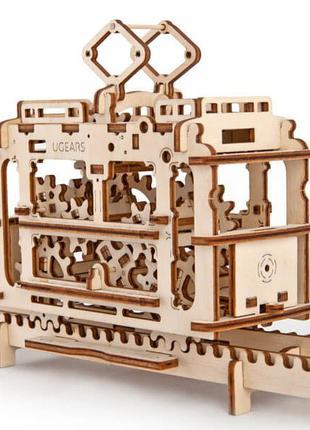 Механические 3D пазлы UGEARS - «Трамвайчик» (CNB)