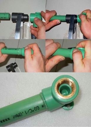Выполняю пайку полипропиленовых труб, систем отопления, водопрово