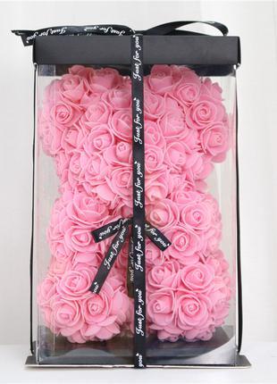 Мишка Тедди из роз в подарочной коробке. День святого Валентина.