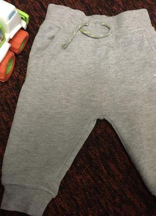 Штани на флісі mini rebel 9-12 місяців 80 см