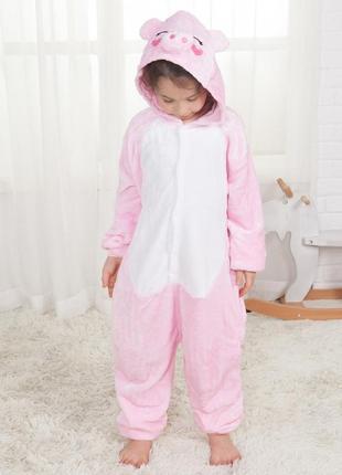 Пижама кигуруми хрюша детская 130 140 поросенок