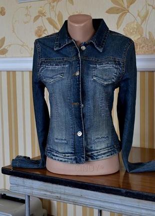 Куртка джинсовая размер s 40 42 пиджак