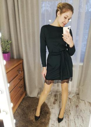 Платье, платье с кружевом, платье трикотаж
