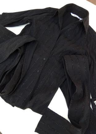 Модная женская рубашка, блуза с поясом на запах от zara