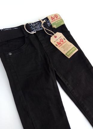 Черные джинсы для мальчика adams denim skinny fit (2 года)