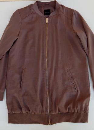 Крутой бомбер куртка парка под шелк new look