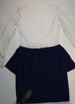 Abody. платье с гипюром. размер 10. s-m