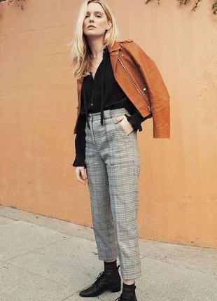 Крутые брюки штаны в клетку с лампасами