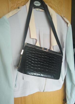 Натуральная сумка принт кроко