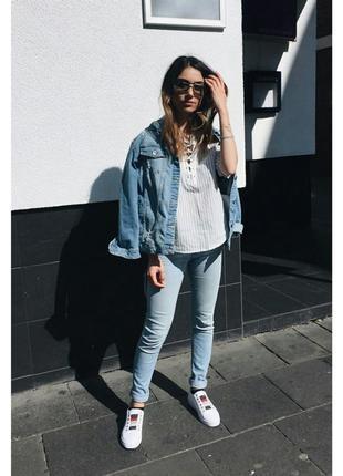 Супер джинсы скини высокая талия