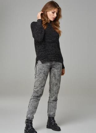 Вязанный свитер оверсайз с люрексом