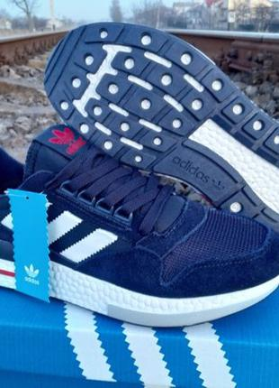 Adidas ZX500 Замша мужские кроссовки Вьетнам 41-46 синие