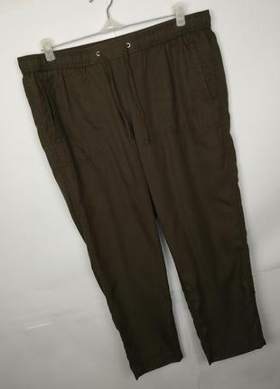 Брюки штаны красивые цвета хаки marks&spencer uk 16/44/xl