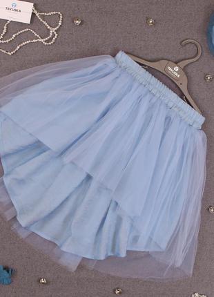 Ассиметричная юбка с фатином