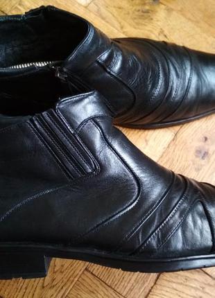Кожаные ботинки kantsedal, черевики шкіряні, туфли, зимние бот...