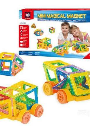 ХИТ ПРОДАЖ!Детский магнитный конструктор Mini Magical Magnet 3...