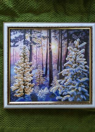 Картина,, Зимний лес,,