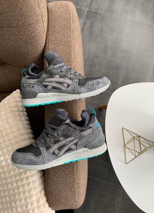Мужские кроссовки Asics Gel Lyte MT Grey/Mint (Топ качество)