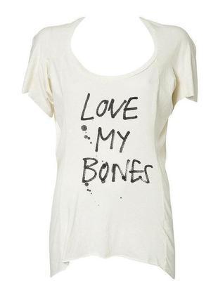 "Футболка бойфренд topshop ""love my bones"""