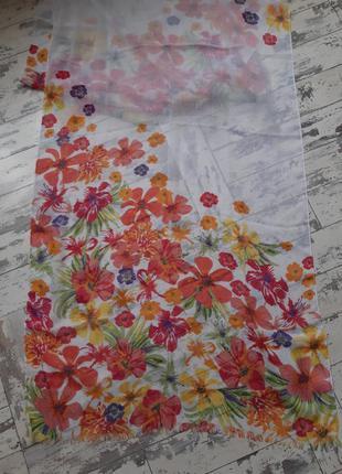 Tcm тонкий цветочный шарф в цветы