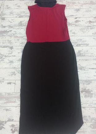Asos платье трикотажное с высоким горлом без рукавов
