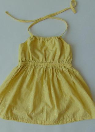 Желтое платье на 1-2 года