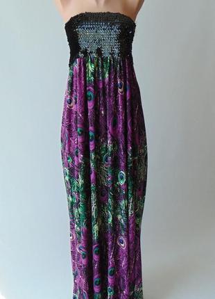 Платье в пол с пайетками  mela loves london л